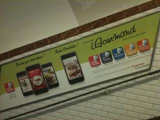 Pub App Iphone dans le métro ?!